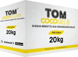 Coconut Shisha charcoal Tom Cococha Yellow 1kg