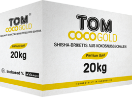 Węgiel do shishy kokosowy Tom Cococha Gold 20kg
